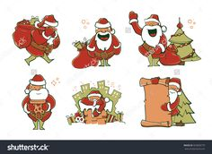Find Vector Illustration Set Christmas Santa Claus stock images in HD and millions of other royalty-free stock photos, illustrations and vectors in the Shutterstock collection. Thousands of new, high-quality pictures added every day. Mascot Design, Picture Poses, Christmas And New Year, Cool Words, Royalty Free Stock Photos, Santa, Characters, Graphics, Illustration