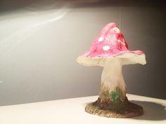 Muchomor czerwony - mini dekoracja z masy papierowej