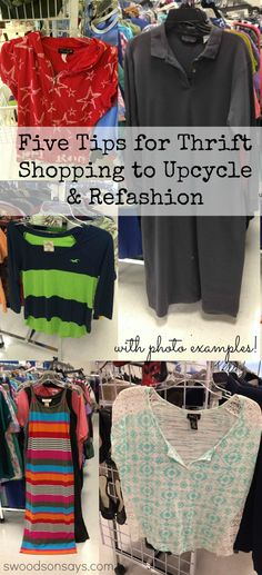 Five Tips for Thrift Shopping to Upcycle and Refashion