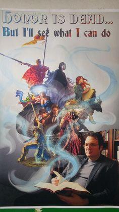 I made a Brandon Sanderson poster for class! : Fantasy