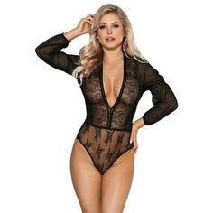b0945ad831e Bodysuits. Romper LingerieLace RomperPlaysuitSexy LingerieLace SleevesDeepPlus  Size RomperPlus Size UnderwearWomens Bodysuit
