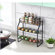 Wine Rack Storage, Pantry Storage, Storage Shelves, Kitchen Storage, Bathroom Storage, Spice Organization, Tin Containers, Rack Shelf, Support Mural
