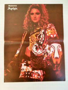 Madonna Tina Turner Double Side Mini Poster from 1980's Greek Magazine   eBay