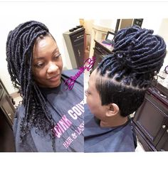 Shaved Side Hairstyles, Faux Locs Hairstyles, Ethnic Hairstyles, Dope Hairstyles, Ladies Hairstyles, Mohawk Styles, Braid Styles, Braids With Shaved Sides, Crochet Hair Styles