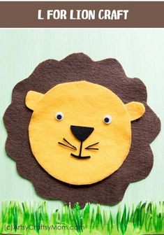 L for Lion Craft with Printable Template is part of Animal crafts Template - Make this adorable L for Lion Craft using our Printable Template while learning about the zoo, the jungle, forest animals, carnivores, big Cats or the Letter L Jungle Crafts, Animal Art Projects, Animal Crafts For Kids, Easy Crafts For Kids, Art For Kids, Rainforest Crafts, Printable Crafts, Templates Printable Free, Creative Activities