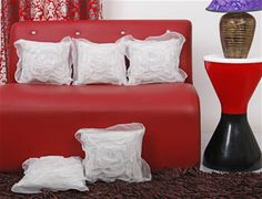 Buy Dekor World Tissue Floral Cushion Cover (Pack of 5 Pcs) in India at Just Rs 349.
