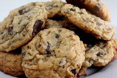 Ingredients Sweetened Flake Coconut - 1 (14 Ounce) Bag All Purpose Flour - 2/3 Cup Salt - 1/4 Teaspoon Almonds, Chopped - 3/4 Cup Chocolate Chips--Divide - 2 Cups Vanilla Extract - 1 1/2 Teaspoon Coconut Extract - 1/2 Teaspoon Sweetened Condensed Milk