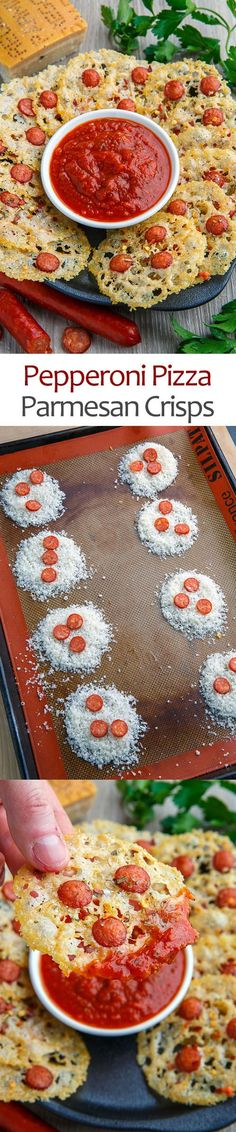 Pepperoni Pizza Parmesan Crisps