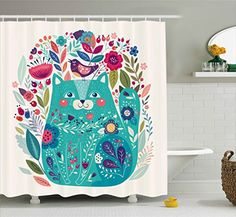 Cat Decor Shower Curtain by Ambesonne, Cute Kitty Surroun... https://www.amazon.com/dp/B06XWHFC2P/ref=cm_sw_r_pi_dp_x_KV3bAbJDGBFBN