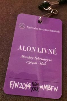 My recap of the NYFW A/W2014 Alon Livne Fashion Show!!!