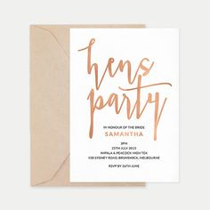 Hens party invitatio
