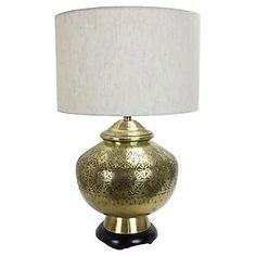 Large-Scale Brass Lamp by Marlborough