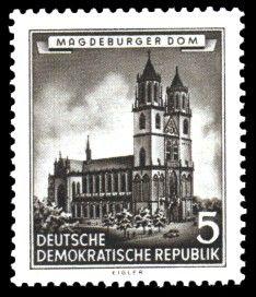 magdeburg historiscche bilder   Briefmarke: Historische Bauten der DDR, Magdeburger Dom (DDR)