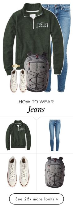 """""""currently freaking out..."""" by kaley-ii on Polyvore featuring Paige Denim, The North Face, Converse and Kate Spade"""