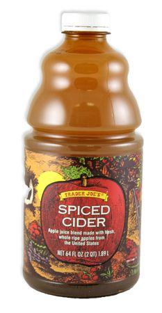 Trader Joe's Spiced Cider  64oz $2.99