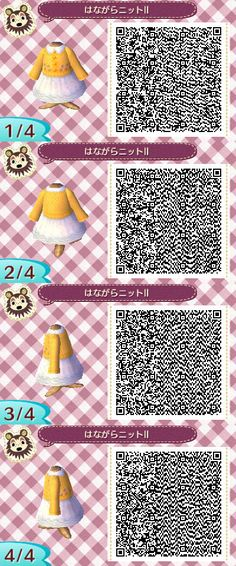 Animal Crossing: New Leaf - yellow dress QR-code