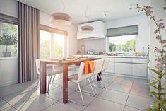 Proiect superb de casa cu mansarda in suprafata de 90 mp! Small House Design, Design Case, My House, Loft, Table, Furniture, Home Decor, Houses, Projects
