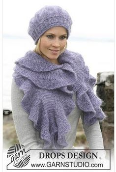 Free knitting patterns and crochet patterns by DROPS Design Baby Knitting Patterns, Shawl Patterns, Baby Patterns, Crochet Patterns, Drops Design, Finger Knitting, Free Knitting, Crochet Designs, Knitting Designs
