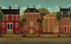 Olde Town Wall Mural 252-69298