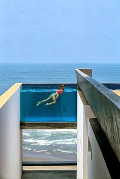 Casa Equis - Peru designed by Barclay & Crousse  What a pool!