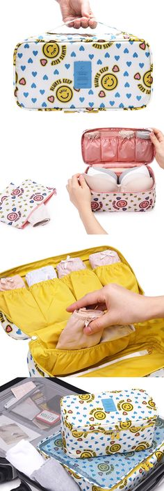Don't let your panties get in a knot! Keep them clean, neat, & organized in this cute Pattern Underwear Pouch! Inside, there are 4 banded pockets for 4-6 pairs of undies while the main compartment can fit 4-6 bras. It also includes a detachable pouch where you can store used underwear for laundry day or keep makeup, toiletries, or feminine hygiene items! This waterproof pouch comes in 2 sizes & 17 fun styles. Use it when you travel or as a stylish diaper pouch for diapers, bottles, & baby…