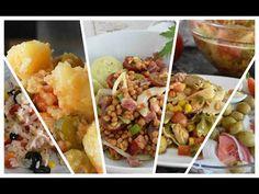 5 ensaladas variadas y fáciles que se preparan en unos minutos y están buenísimas, son perfectas para todo el año y además muy completas y saludables, la ... Potato Salad, Mashed Potatoes, Mexican, Vegetables, Cooking, Ethnic Recipes, Food, Videos, Youtube