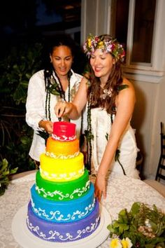 Rainbow Colored Wedding Cakes Amazing Rainbow Wedding Cakes