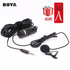 BOYA Lavalier Omnidirectional Condenser Microphone for Canon Sony,for iPhone 7 6s Plus
