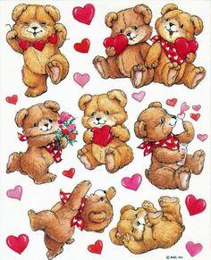 AGC Valentine's Day bear stickers