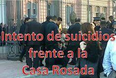 La tensión en la sociedad argentina continúa en una creciente angustia, y una grave expresión ha ocurrido ésta mañana con un... Intento de suicidios frente a la Casa Rosada
