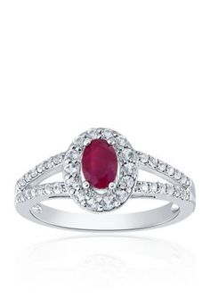 1f393f15d 7mm Pink Round Swarovski CZ Sterling Silver Two-Tone Rhodium and ...