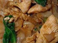 Pad See Ew; flat rice noodles sauteed in sweet soy sauce with Chinese broccoli. #thai #recipes