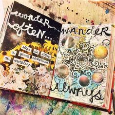 love these art journal pages. they just flow and there is a great usage of color. the blues are by far my favorite