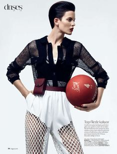 Sophisticated Sport Fashion - The Vogue Turkey 'Sic Spor' Editorial Stars a Strong Ellinore Erichsen (GALLERY)
