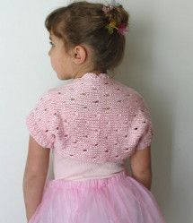 Baby girl shrug toddler cardigan hand knit sweater for Fave crafts knitting patterns