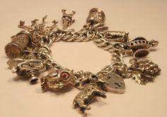 Vintage Charm bracelet  chicvintageboutique on etsy