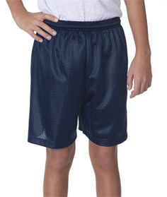 "A4 Youth 6"" Lined Tricot Mesh Shorts NB5301 Navy"