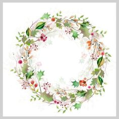 Victoria Nelson - Watercolour Christmas Wreath
