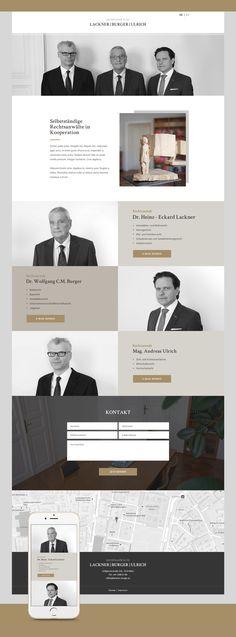 Entwicklung einer mehrsprachigen responsive Website für Lackner Burger Ulrich Rechtsanwälte. Website Designs, Burger, Movie Posters, Film Poster, Design Websites, Website Layout, Web Design, Design Web, Film Posters
