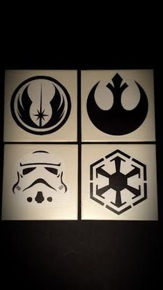 Inspired by Star Wars Minimalist 4 Tile Coaster Set