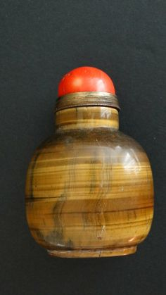 Chinese Tigers eye agate jade Snuff Bottle