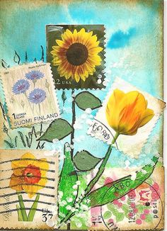 great way to use all my recycled stamps!