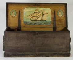 antique sailor's chest.  love