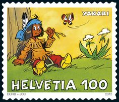 Swiss special stamp  https://sso.post.ch/shops/en/PhilaShop/Issue-of-22112012/The-little-Indian-boy-Yakari