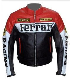 Ferrari Black And Red Motorcycle Leather Jacket Winter Leather Jackets, Winter Jackets, Men's Jackets, Revival Clothing, Men Closet, Motorcycle Leather, Motorcycle Jackets, Man Set, Men's Wardrobe