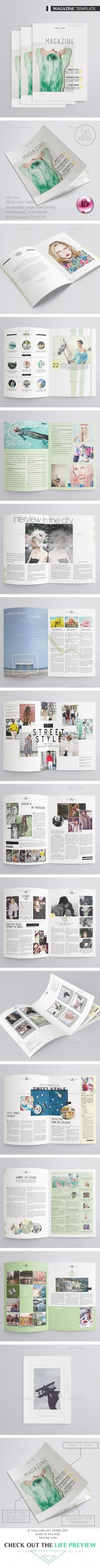 Multipurpose Magazine 26 Pages Template InDesign INDD #design Download: http://graphicriver.net/item/multipurpose-magazine-26-pages/13240907?ref=ksioks