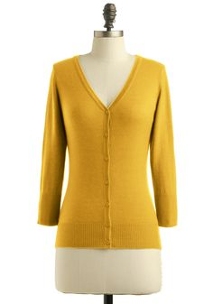 Charter School Cardigan in Honey | Mod Retro Vintage Sweaters | ModCloth.com