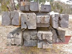 Recycled bridge beams, all squared up