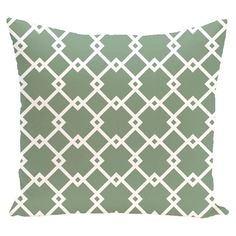 Diamond Trellis Geometric 18-inch Decorative Pillow