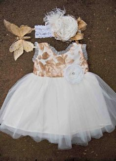 Golden Rose Holiday Tulle Gown  12 Months to 4T at www.cassiesclosetinc.com